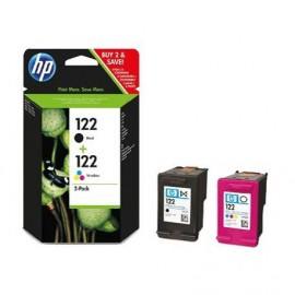 HP 122 Combo-pack Black/Tri-color Ink Cartridges