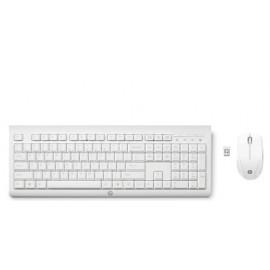 HP CLAVIER +SOURIS HP C2710 SANS FIL FIL BLANC
